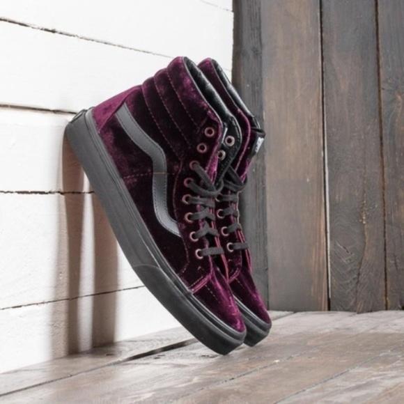 Vans Shoes | Vans Sk8hi Purple Velvet